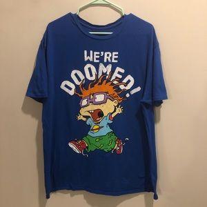 NickelodeonRugrats Chuckie graphic t shirt blue